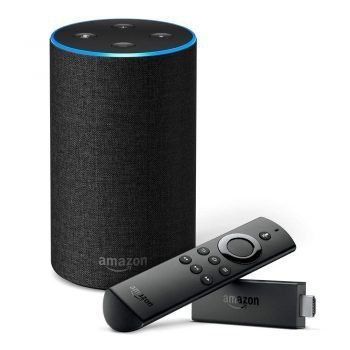 Amazon Echo (Black) & Fire TV Stick with Voice Remote bundle