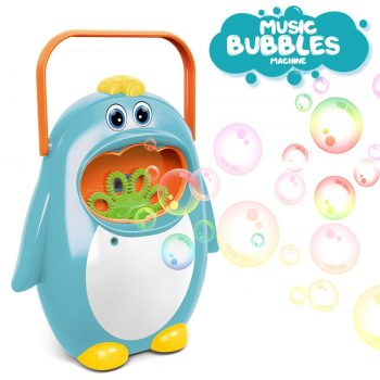 AiToy Bubble Machine, Automatic Bubble Maker Penguin Bubble Blower Maker Kids Toy for Boys Girls Use for Indoor, Outdoor, Party, Wedding