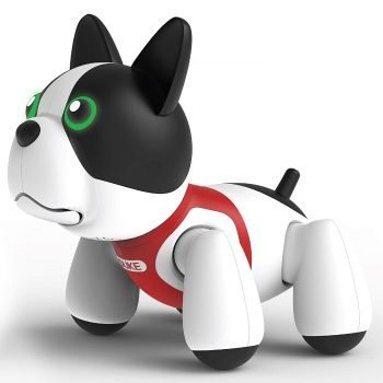 SHARPER IMAGE RC Toy Duke The Trainable Robotic Puppy Dog with Smart Bone, Virtual Robot Pet for Kid