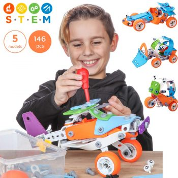 Toy Pal | STEM Toys for Boys | 146 Piece Educational Engineering Building Toys Set for Boys & Girls Ages